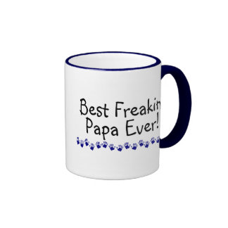 Best Freakin Papa Ever Ringer Mug