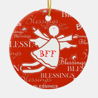 Best Friend Angel Blessings Christmas Ornament