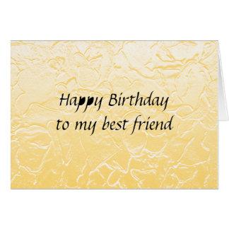 best friend birthday greeting card