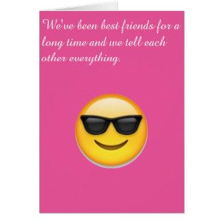 Best friend card
