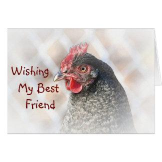 Best Friend Chicken Birthday Card