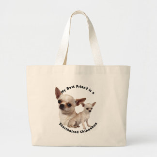 Best Friend Chihuahua Shorthaired Large Tote Bag