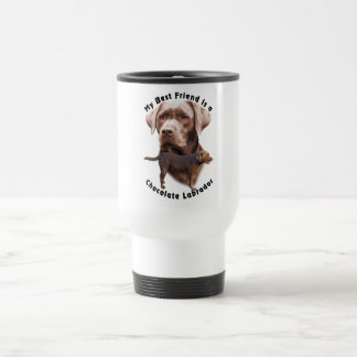 Best Friend Choc Lab2 Travel Mug