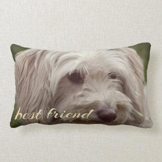 Best friend custom accent throw pillow. lumbar pillow