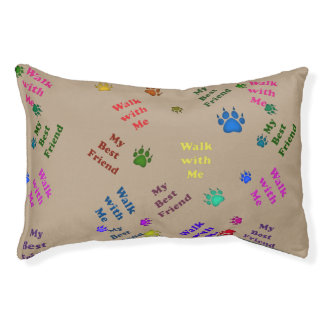 Best Friend Dog Paw Graphic Small Dog Bed