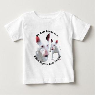 Best Friend English Bull Terrier White Baby T-Shirt