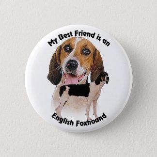 Best Friend English Foxhound 2 Inch Round Button