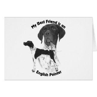 Best Friend English Pointer BW Card