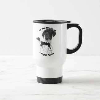 Best Friend English Pointer BW Travel Mug