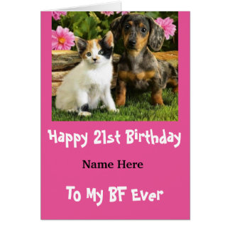 Best Friend Ever 21st Birthday Card