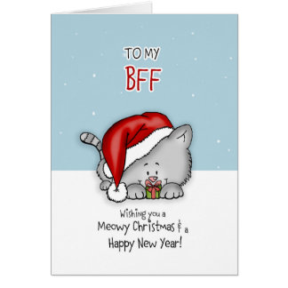 Best Friend forever - Cat Christmas card