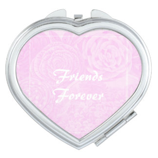 Best Friend Gift Friends Forever Compact Pink Vanity Mirror