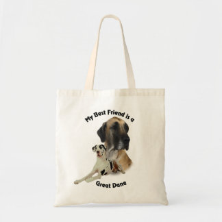 Best Friend Great Dane Tote Bag