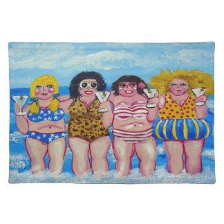 Best Friend Martini Beach Divas Place Mat