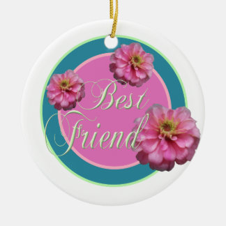 Best Friend/ photo Ceramic Ornament