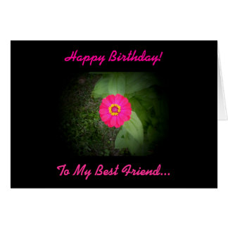 Best Friend Poem Birthday Card