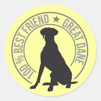 Best Friend Round Sticker