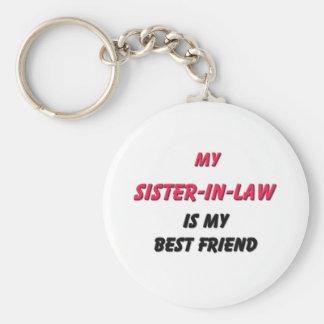 Best Friend Sister-in-Law Basic Round Button Keychain