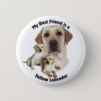 Best Friend Yellow Labrador 2 Inch Round Button