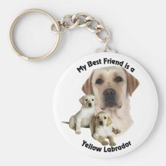 Best Friend Yellow Labrador Keychain