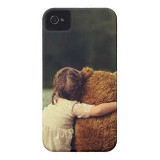 Best Friends A Little Girl and Her Teddy Bear Case-Mate iPhone 4 Case