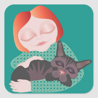 Best Friends -  animal cat lover's sticker