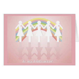 Best Friends Bridesmaid Card