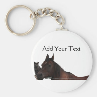 Best Friends Cat and Horse Cuddle Up Keychain
