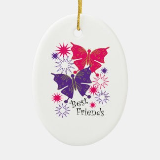 Best Friends Ceramic Ornament