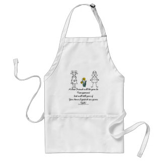 Best Friends Collection Transparent Standard Apron