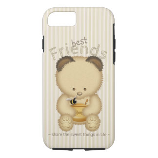 Best Friends Cute Honey Bear And Bee iPhone 8/7 Case