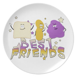 Best Friends Dinnerware Plate