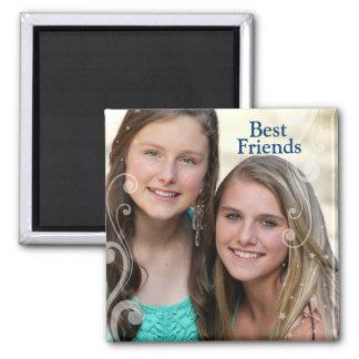 Best Friends Diy Photo Square Magnet