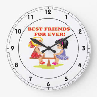 Best Friends For Ever Large Clock