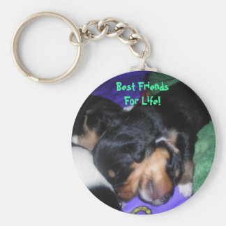 Best Friends For Life! Basic Round Button Keychain