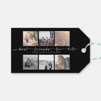 Best Friends for Life Instagram Photo Typography Gift Tags