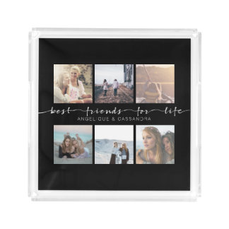 Best Friends for Life Instagram Photo Typography Perfume Tray