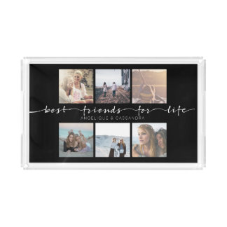 Best Friends for Life Typography Instagram Photo Perfume Tray