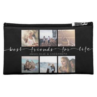Best Friends for Life Typography Instagram Photos Makeup Bag