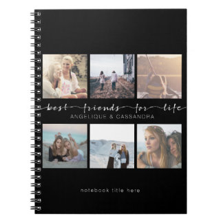 Best Friends for Life Typography Instagram Photos Spiral Notebook