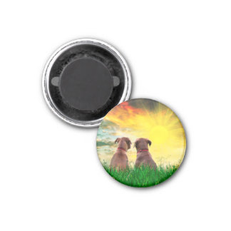 Best friends forever 1 inch round magnet