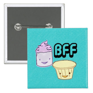 Best Friends Forever 2 Inch Square Button