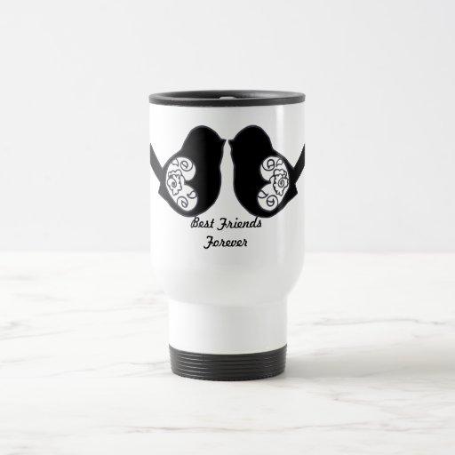 Best Friends Forever, BFF Cute Love Birds Coffee Mug