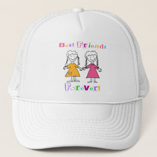 Best Friends Forever BFF Gifts Trucker Hat