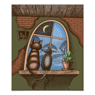 Best friends forever cat and mouse print