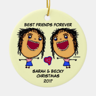 Best Friends Forever Ceramic Ornament
