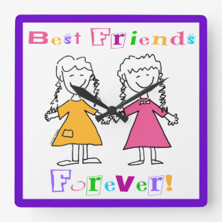 Best Friends Forever Clock