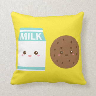 Best Friends Forever, Cute Milk and Cookies Throw Pillow