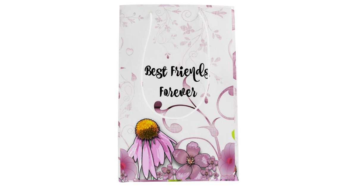 Best Friends Forever, Daisy Graphic Design Medium Gift Bag ...