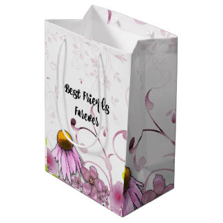 Best Friends Forever, Daisy Graphic Design Medium Gift Bag